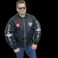 Boss Hoss Kevlar-Bomber-Jacke mit Protektoren